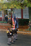 Flag and Color Guard on Parade