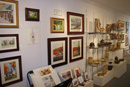 Interior shot of the Artists' Undertaking showing available art and pottery