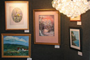 Variety of art on display at the Wine and Cheese Event