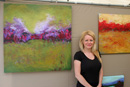Local Artist Kerin McBride and some of her art