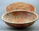 """A Pair of Box Elder Salad Bowls"" by Bob Horowitz (11 ½"" x 4"" and 3"" x 4"")"