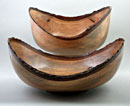 """A Pair of Maple Natural Edge Bowls"" by Bob Horowitz (9 ½"" x 8 ½"" x 4 ½"" and 8 ½"" x 5"")"