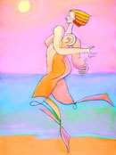 """Diana Running Free"" by Roger Frey – Pastel"