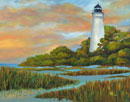 """Setting Sun on Ocracoke Lighthouse"" by Anne Rust Pearson"