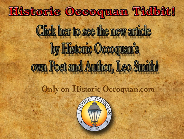 Historic Occoquan Tidbit: New article by Leo Smith