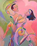 """Diana & Apollo Dancing with the Stars"" by Roger Frey (Acrylic Painting)"