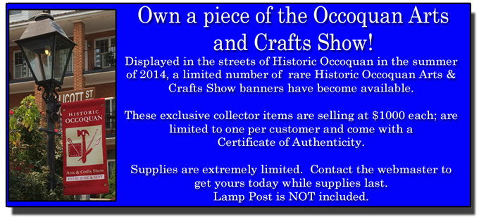 Own a piece of the Occoquan Arts and Crafts Show
