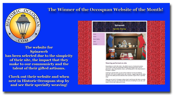 Occoquan website of the month